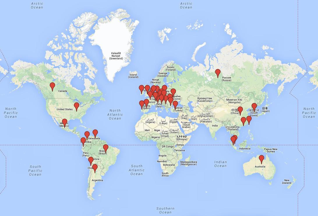 Mapa, kde všude působíme